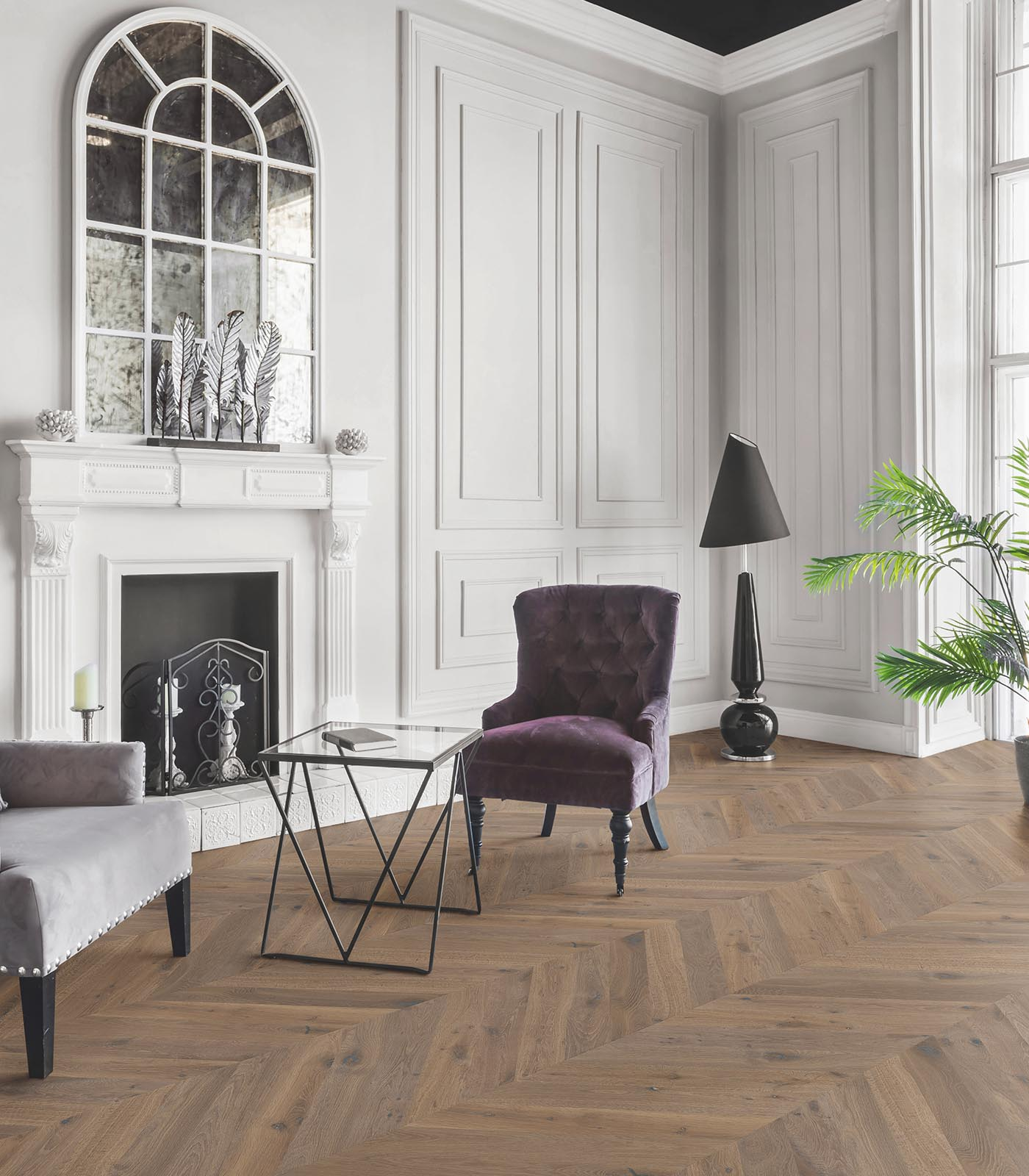 European Chevron Oak floors-Fashion Collection-Anguilla-room