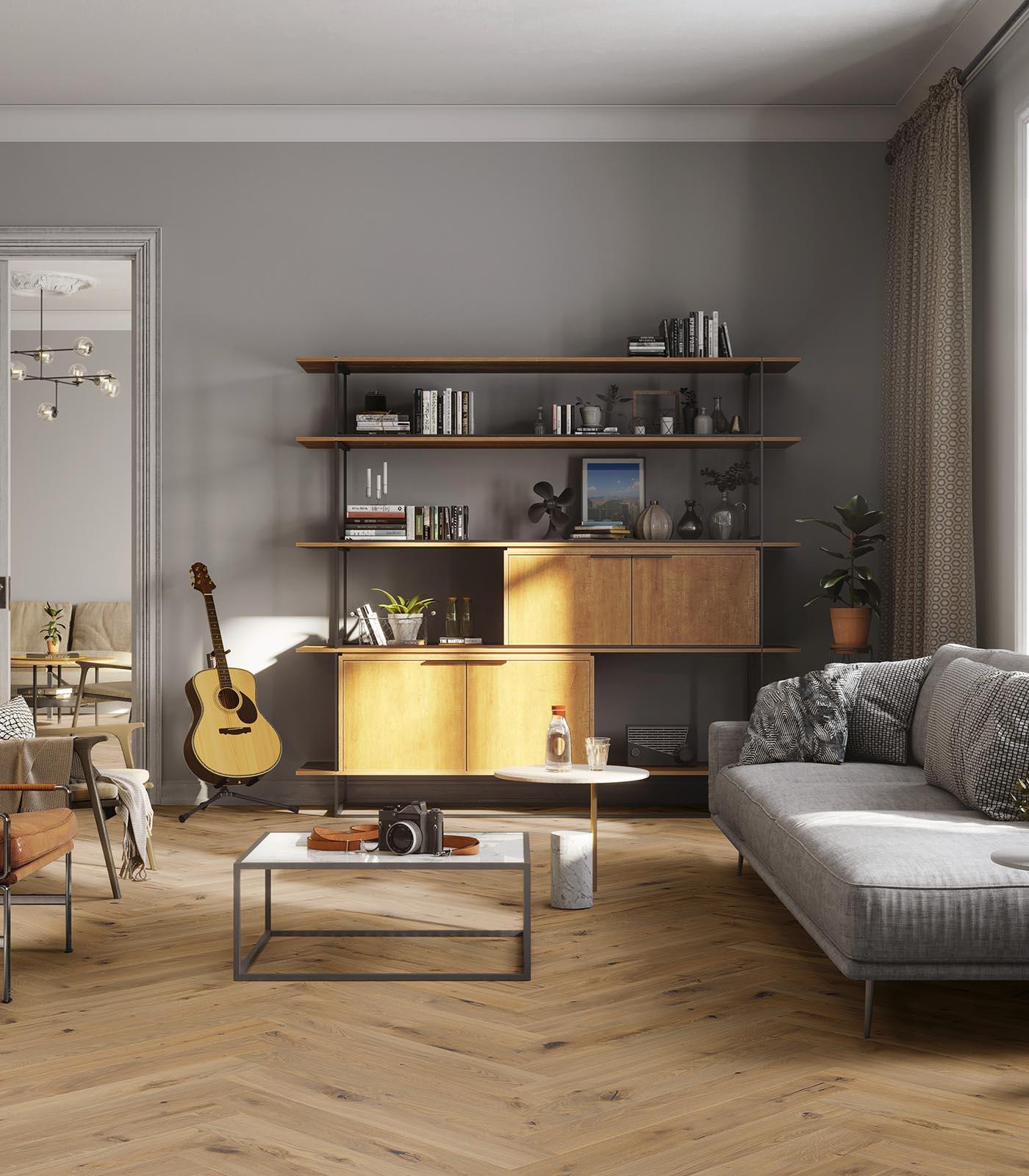European Oak Herringbone floors-Fashion Collection-Barbados-room