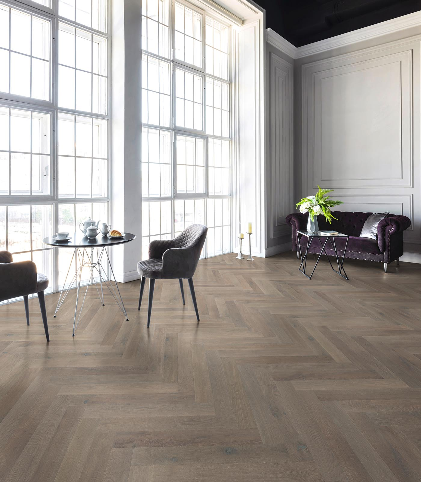European Herringbone Oak Floors-Brittany-Fashion Collection-room