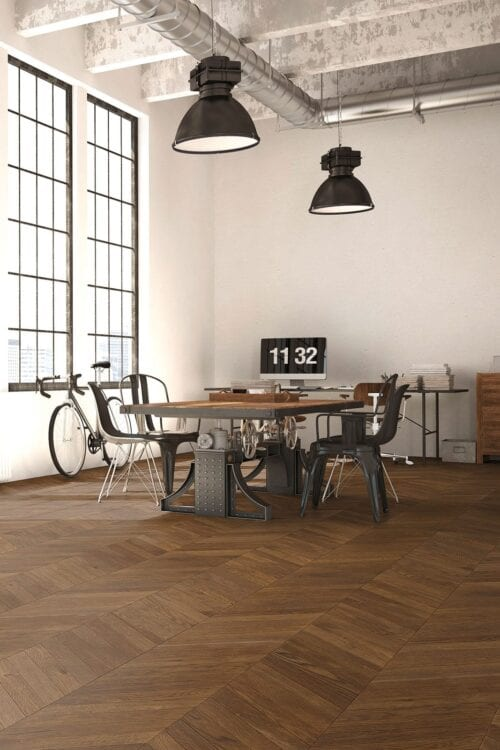 Caucasus Chevron European Oak floors- Fashion Collection-room