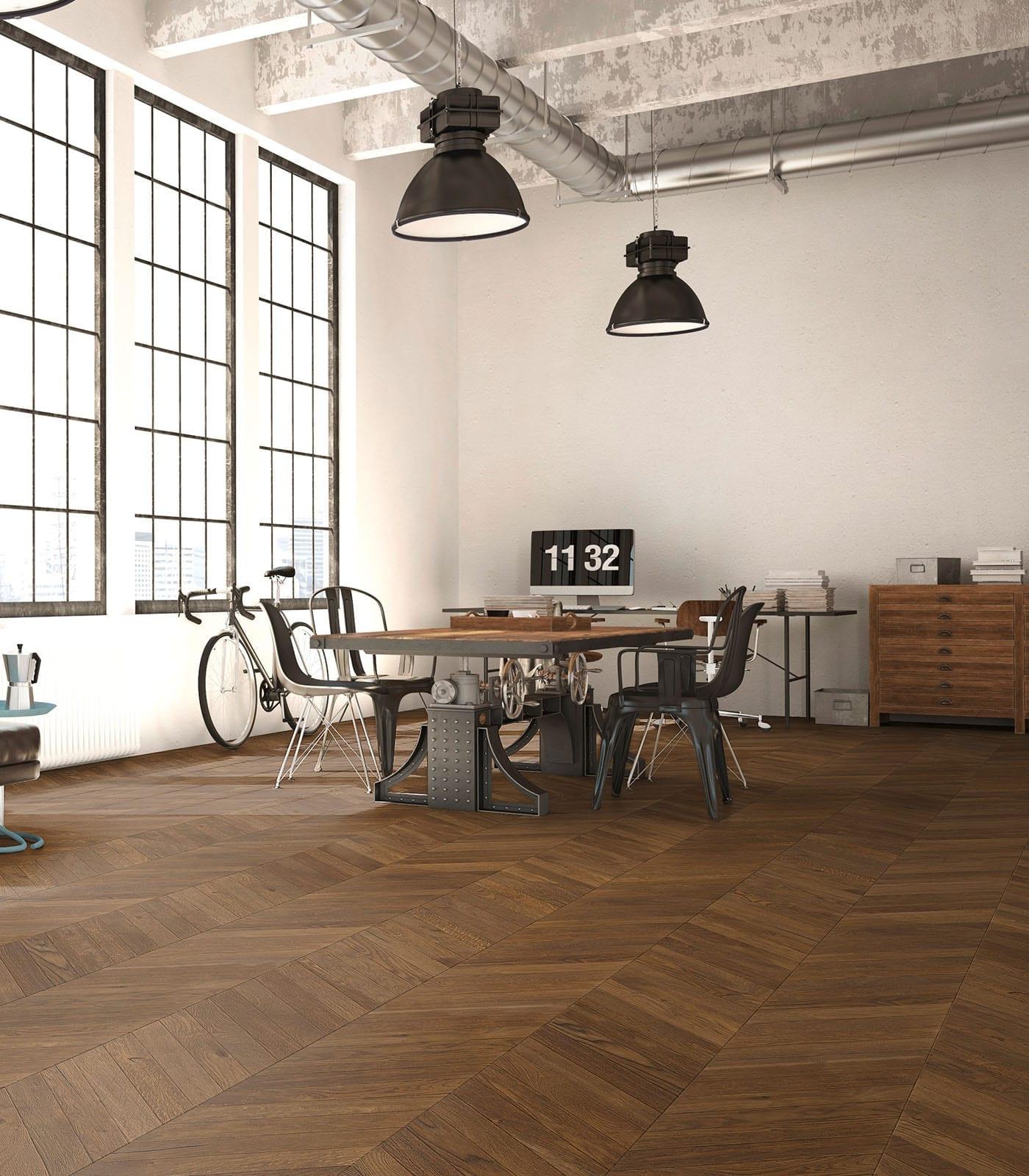 Caucasus Chevron European Oak floors- Fashion Collection-room