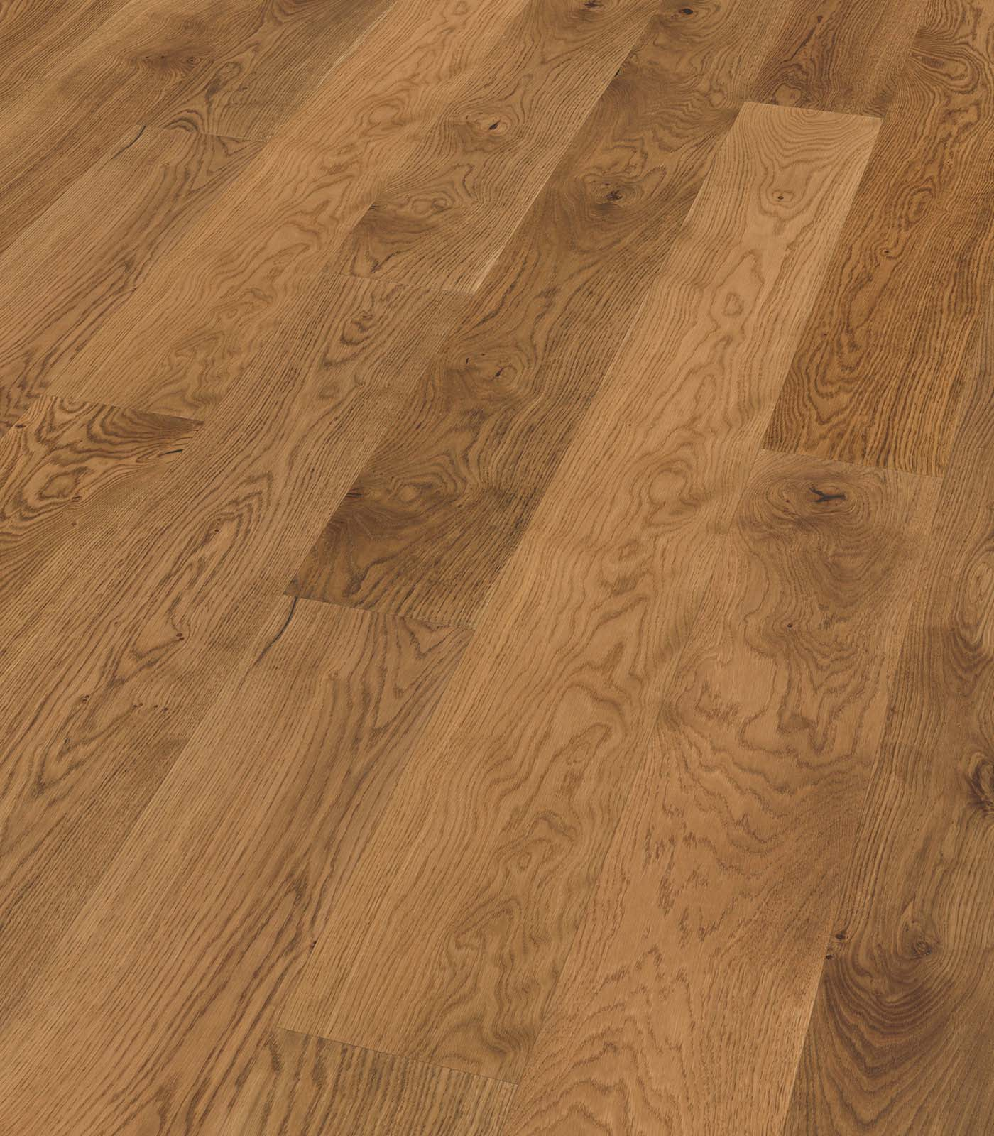 Semi-Fumed Oak Rustic-Origins Collection-European Oak Floors-angle