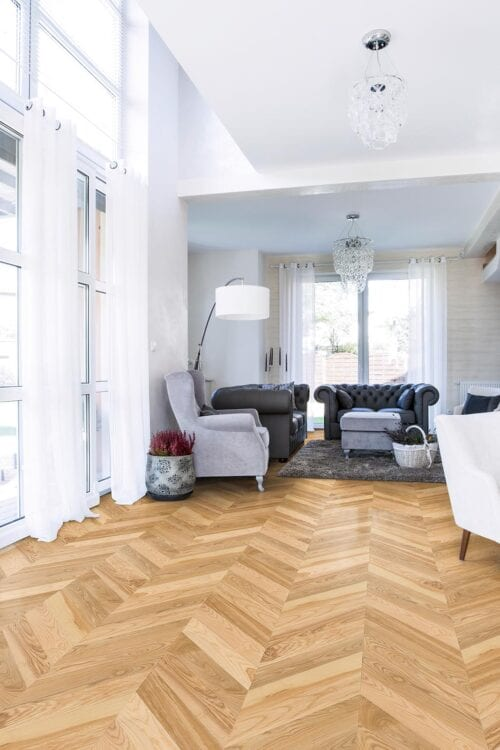 Fashion Collection-European Ash Chevron floors