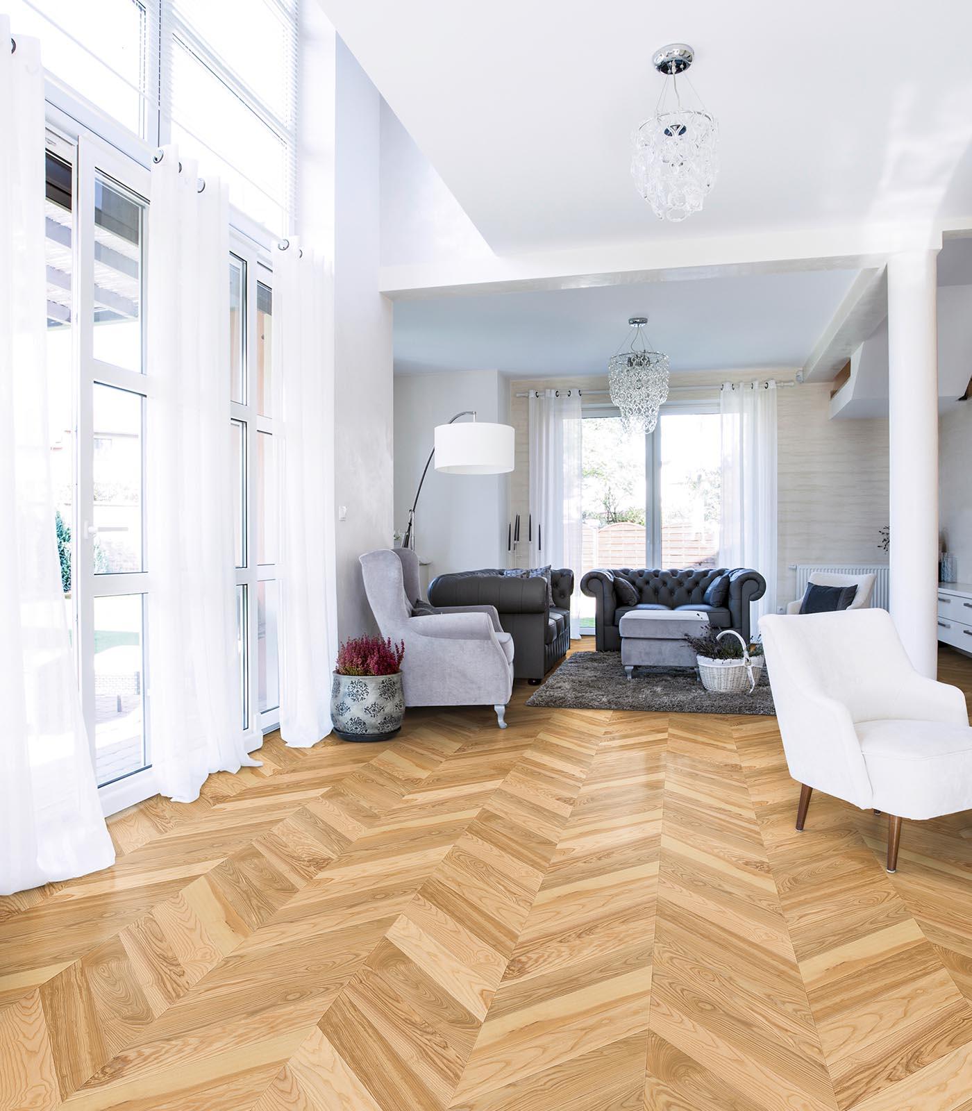 Fashion Collection-European Ash Chevron floors