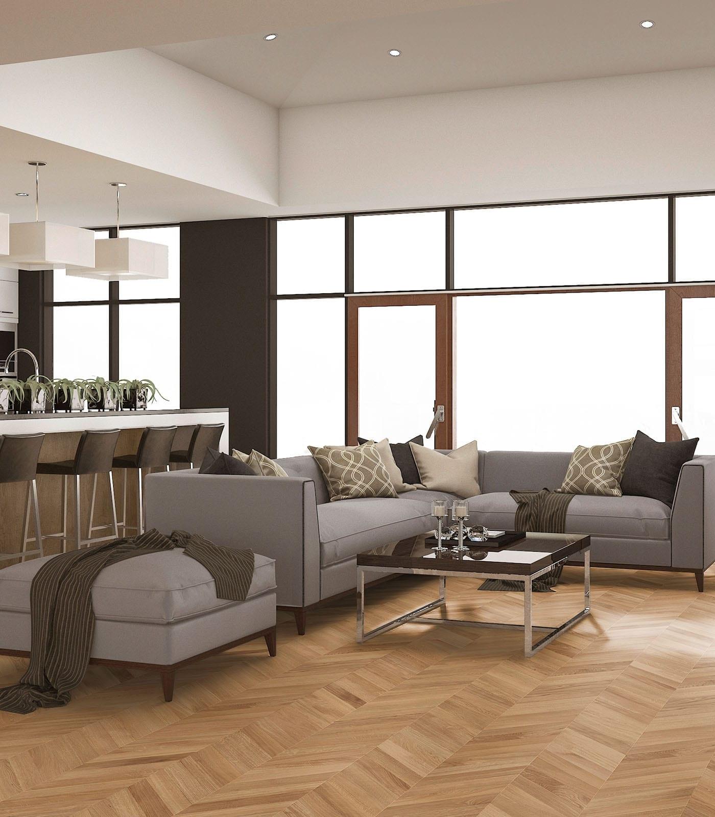 European Oak engineered Chevron floors