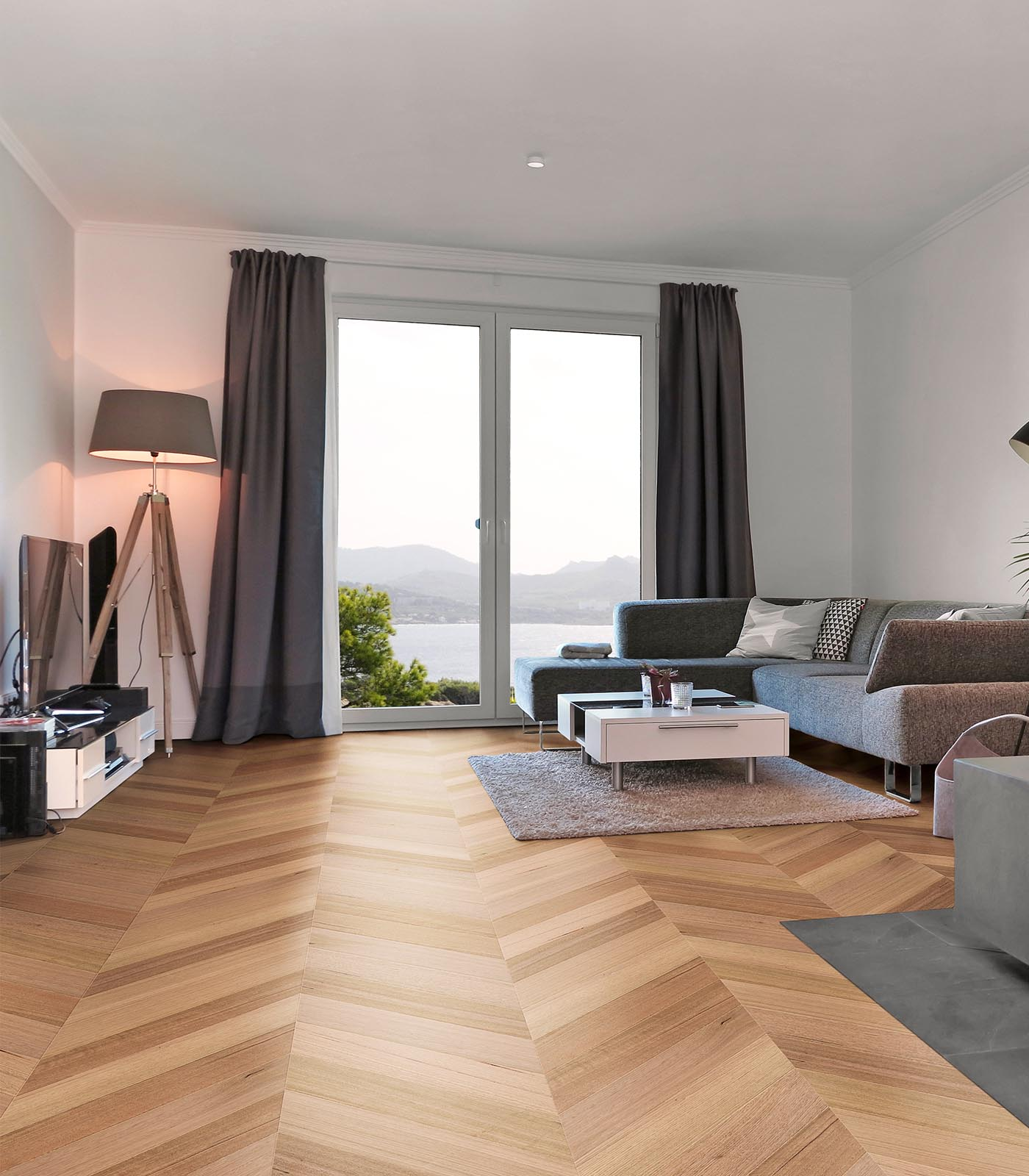 Fashion Collection-Tasmanian engineered Chevron Oak floors-room