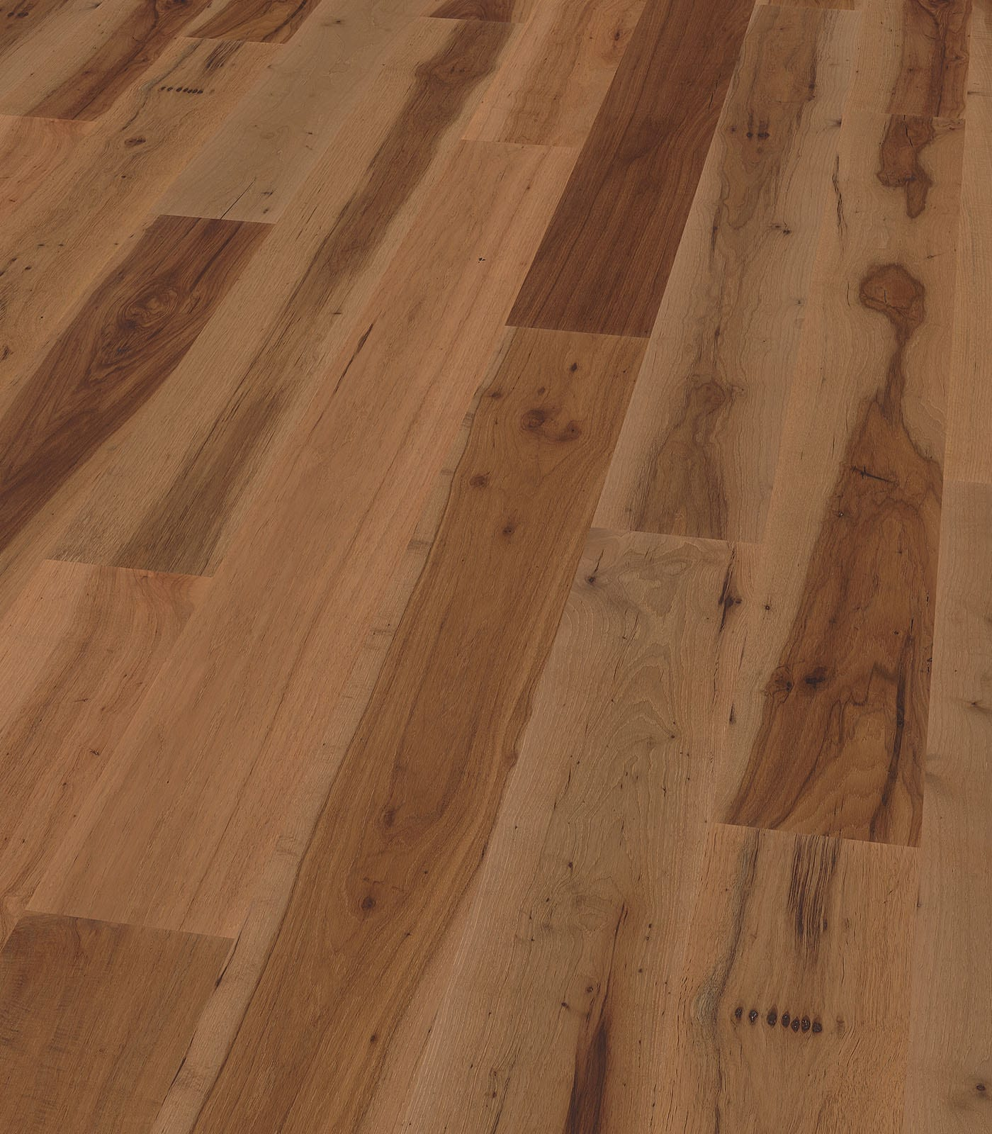 New Orleans-After Oak Collection-Pecan engineered floors - angle