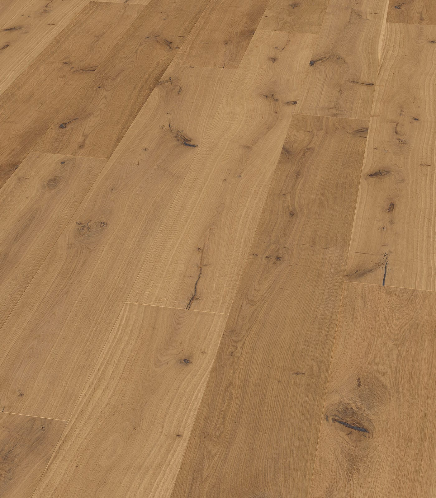 Semi-fumed Polos European Oak floors-Origins Collection-angle