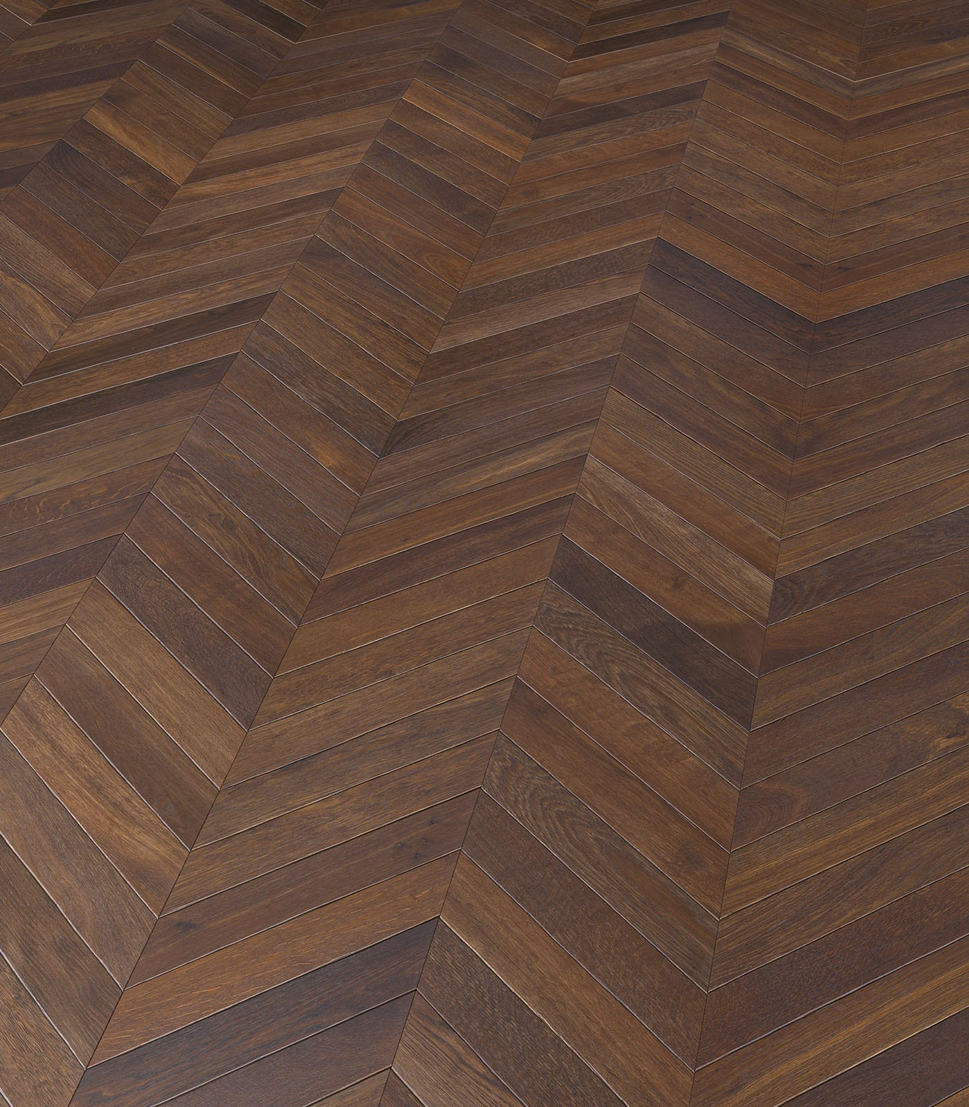 Fashion Collection-European Chevron Connex-Smoked Oak Floors-angle