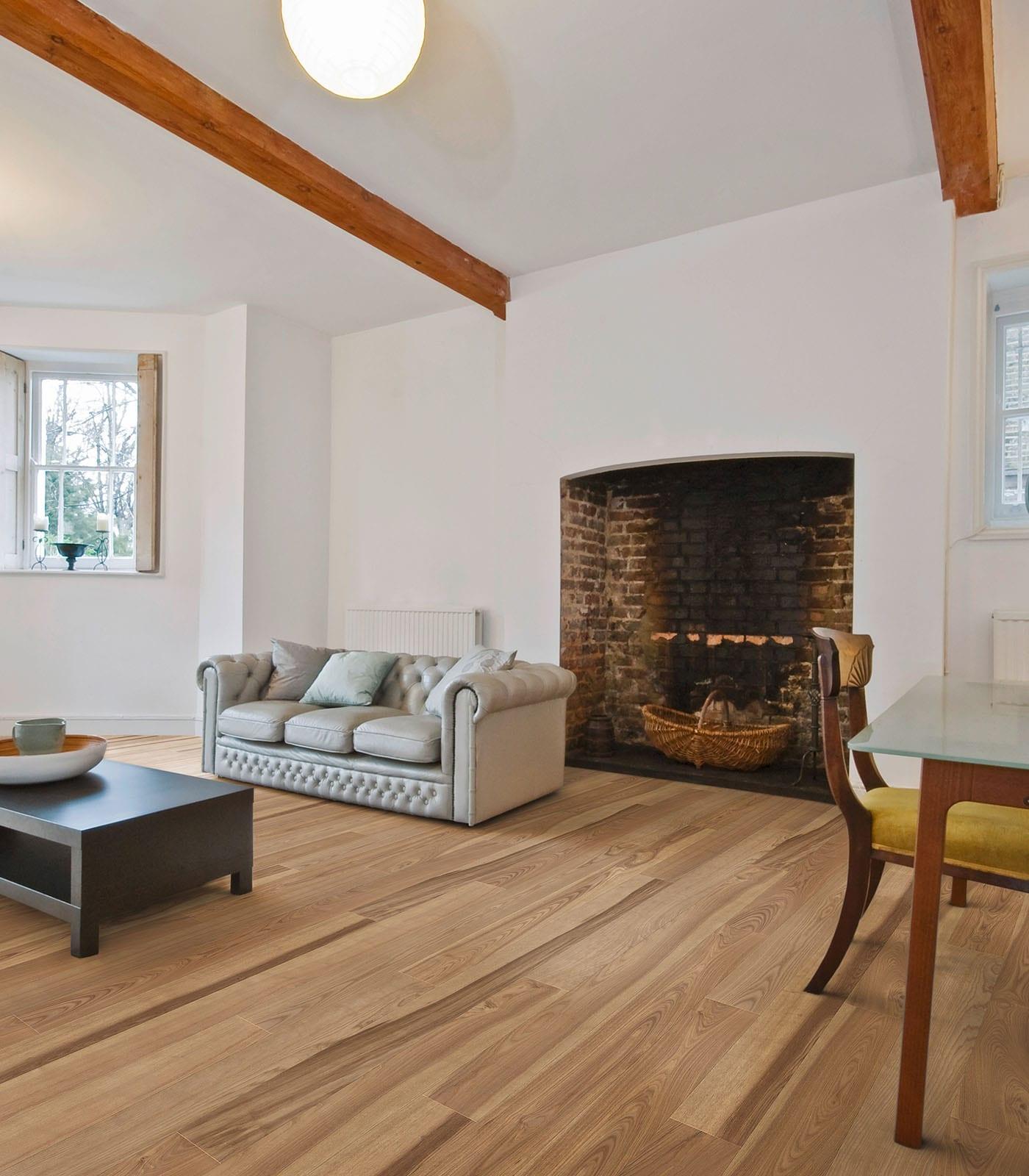 St Petersberg-engineered European Ash hardwood flooring