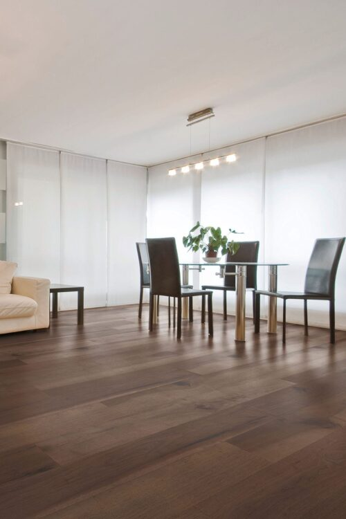 Tulsa-engineered Pecan hardwood flooring