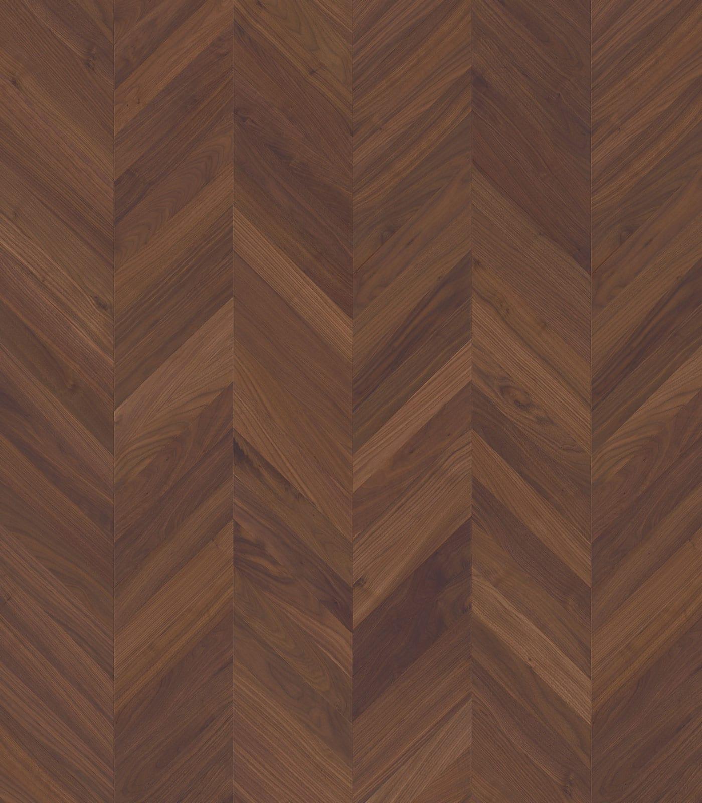 Fashion Collection-Chevron Walnut-engineered flooring-flat