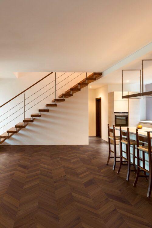 Chevron engineered Floors in Walnut