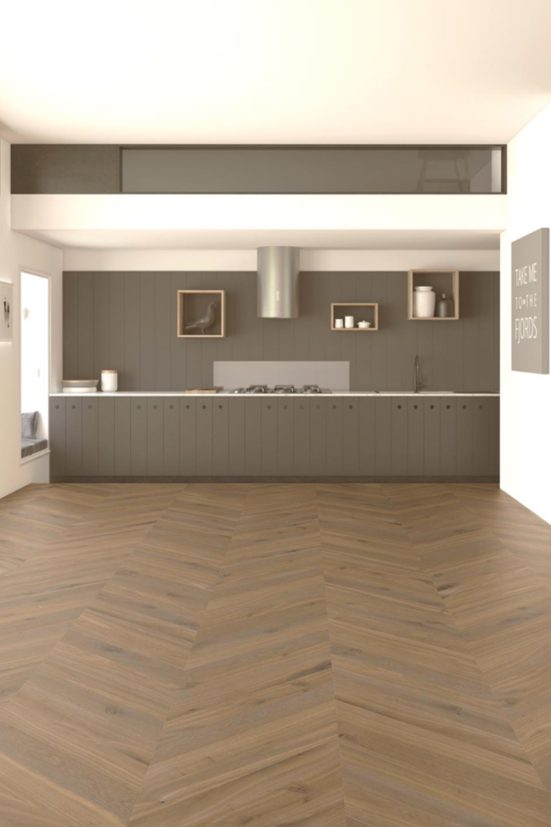 Biarritz Chevron single plank wood flooring
