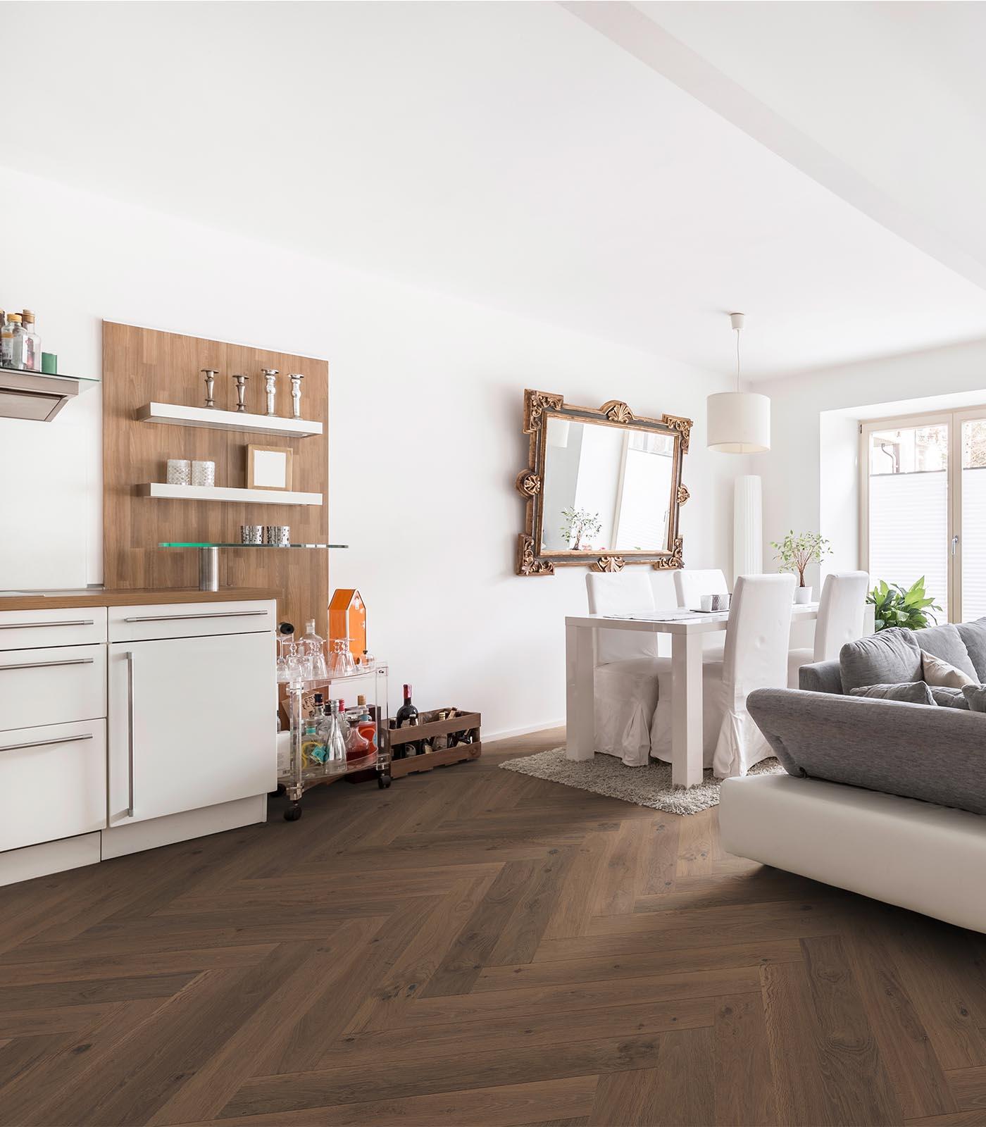 Verona-Western European oak flooring-Fashion Collection-Herringbone-room