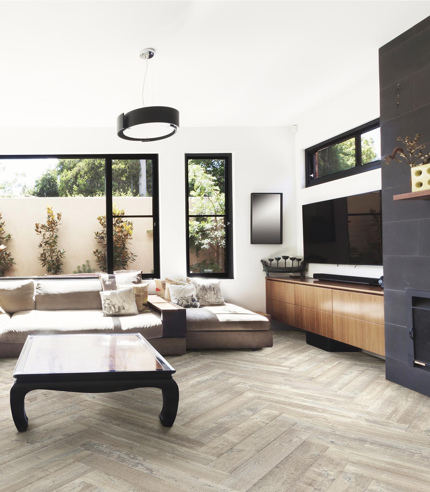 Western European oak flooring-Fashion Collection-Herringbone-Vail-room